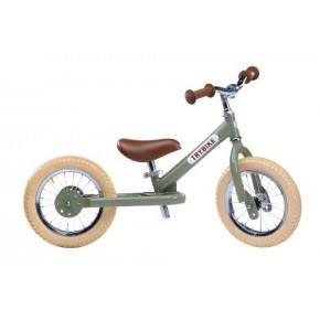 TRYBIKE Vintage Balansesykkel m/ 2 Hjul - Grønn