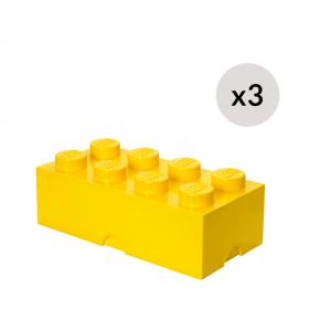 LEGO Oppbevaringskasse 8 - Gul x 3