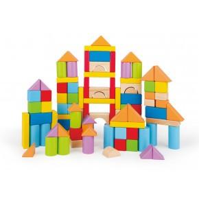 Hape Byggeklosser i tre - Flerfarget