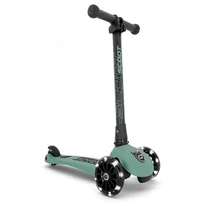 SCOOT AND RIDE Highwaykick 3 Led scootere - skog
