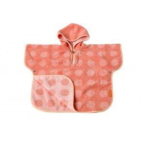 LEANDER Matty Poncho, 60x100, Coral/Pink