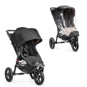 Baby Jogger City Elite Single klappvogn+regntrekk - Svart