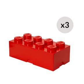 LEGO Oppbevaringskasse 8 - Rødx3