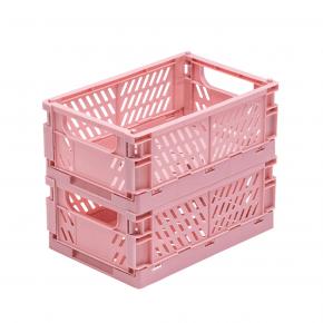 TINY REPUBLIC 2 stk. Sammenleggbare bokser medium - rosa