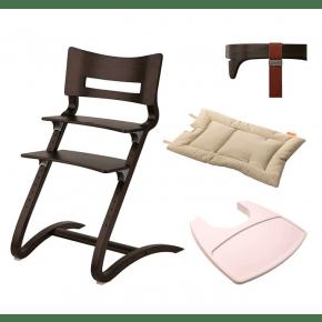 LEANDER Klassisk barnestol med tilbehør - valnøtt