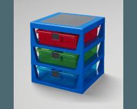 LEGO Oppbevaring med 3 skuffer - blå