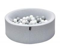 TINY REPUBLIC ballbasseng 90x30 - lys grå