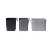 Leander Oppbevaringsholdere 3pk - Dusty Grey