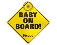 Pixizoo Baby ombord pixizoo med sugekopp
